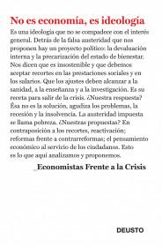 No es economía, es ideología de Economistas Frente a la Crisis